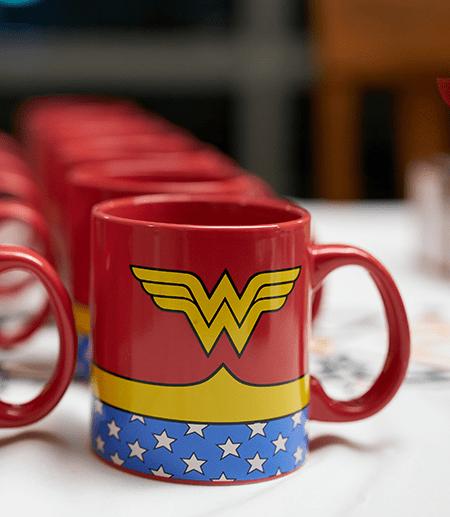Wonder Woman mug on white table