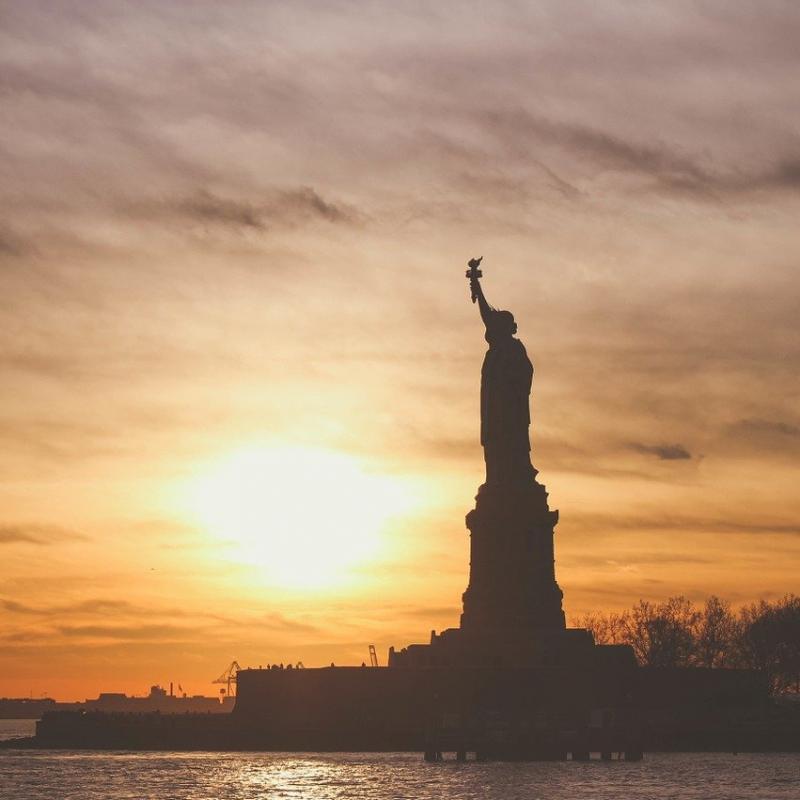 Statue of Liberty at sunrise