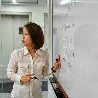Eun-Ah Kim at whiteboard