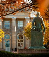 Goldwin Smith Hall in the fall