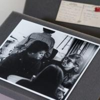 Photo of Lou Reed and Andy Warhol