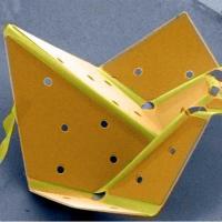 Orange and yellow origami bird