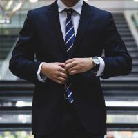 Person wearing a business suit
