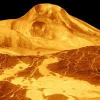Glowing gold mountian