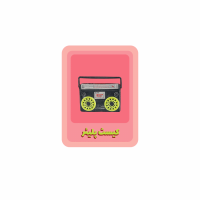 Graphic of cassette tape