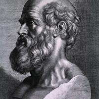 An illustration of Hippocrates