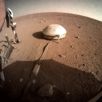 The domed wind and thermal shield covers NASA InSight lander's seismometer