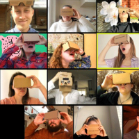 Eleven faces in using cardboard goggles
