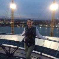 My family came to visit me and we walked across the roof of the O2 arena, which gave amazing views!