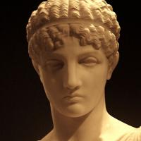 Stature of the head of a Greek woman