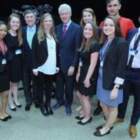 Students with Bill Clinton