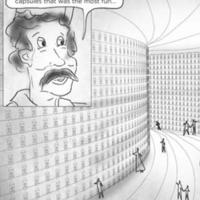 Cartoon on the wall