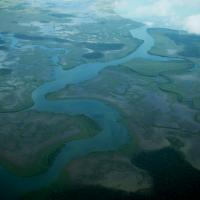 Rivers shown from above