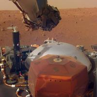 NASA and JPL mission engineers continue to check tools aboard the Martian lander InSight in this photo from Dec. 4.