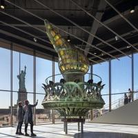 Statue of LIberty torch in new museum
