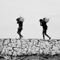 Image of of two boys carrying a load