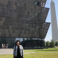 Amina Kilpatrick at the African American history museum