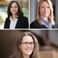 Professors Ananda Cohen-Aponte, Erin York Cornwell, and Khena Swallow