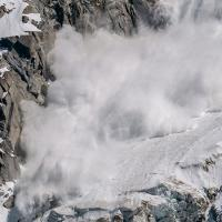 avalanche on a mountain