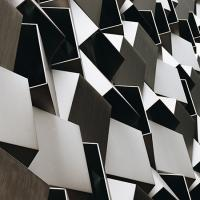 Abstract shape pattern in shades of gray