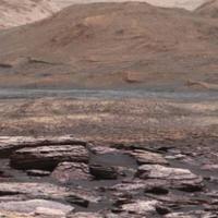 Rocky landscape of Mars
