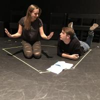 Actors in the production of Constellations.