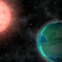 drawing of exoplanet