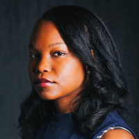 Potrait photo of Nafissa Thompson-Spires wearing a blue blouse.