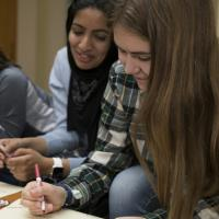 students in advising seminar