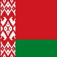 Red and green color blocks in a flag