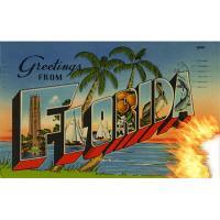 postcard of florida burning