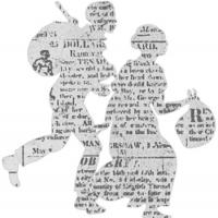 outline of two slaves carrying bundles