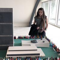 Cornell student visting the United Nations