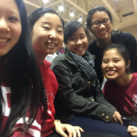 Me and my friends at our very first Cornell basketball game, celebrating the start of second semester freshman year.