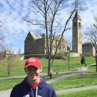 Here is a photo of me on my Cornell tour!