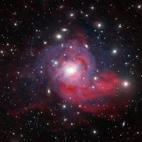 Image of the stars in the Perseus Cluster