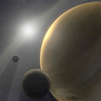 Gas giant planet: artist's rendition