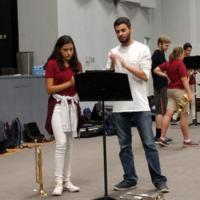 Students playing instruments