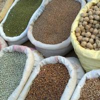 grains for sale at a market