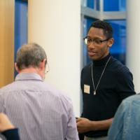 Students at research reception