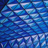 Geometric pattern of blue triangles
