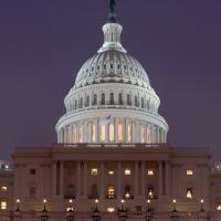 Image of US Capitol Building at Night