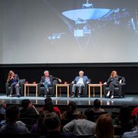 A panel discussing the Voyager anniversary