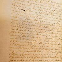 A handwritten letter, dated Oct. 10, 1787, from George Washington to Col. David Humphreys, a close friend and former aide-de-camp