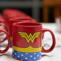 Wonder Woman mug on white table