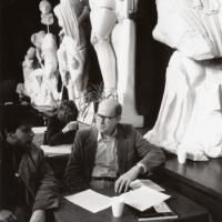 Professor A.R. Ammons at the Temple of Zeus