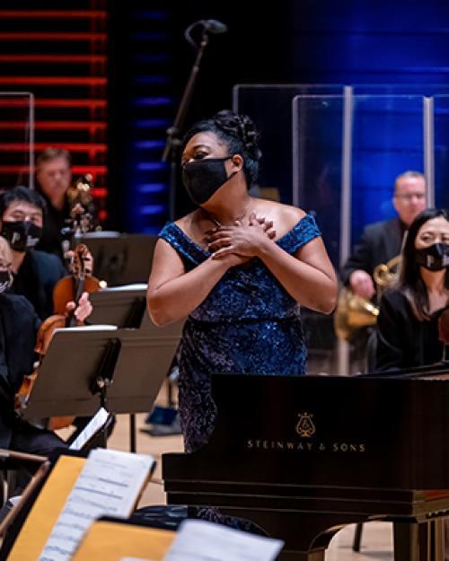 woman at the piano