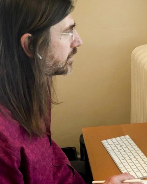Person working at a computer