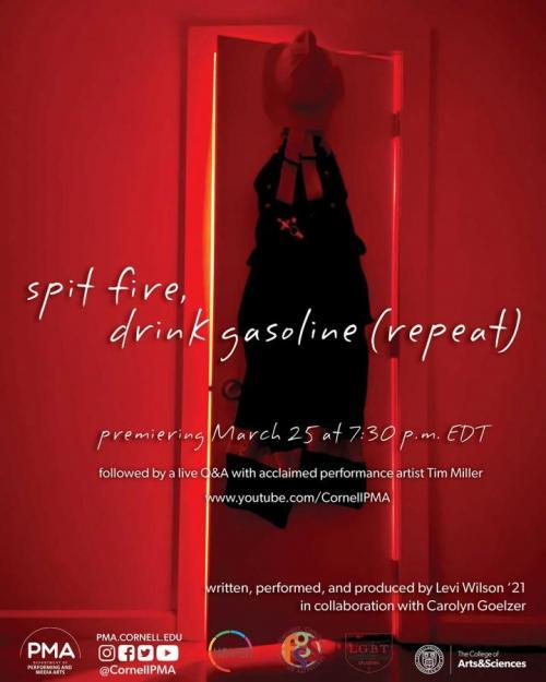 "Event poster for ""spit fire, drink gasoline"""