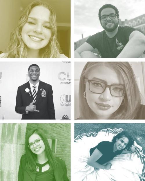 Headshots of six of the MMUF students
